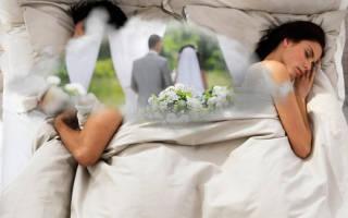 Выйти замуж за умершего человека во сне сонник