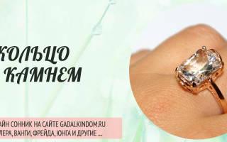 К чему снится кольцо с камнем сонник